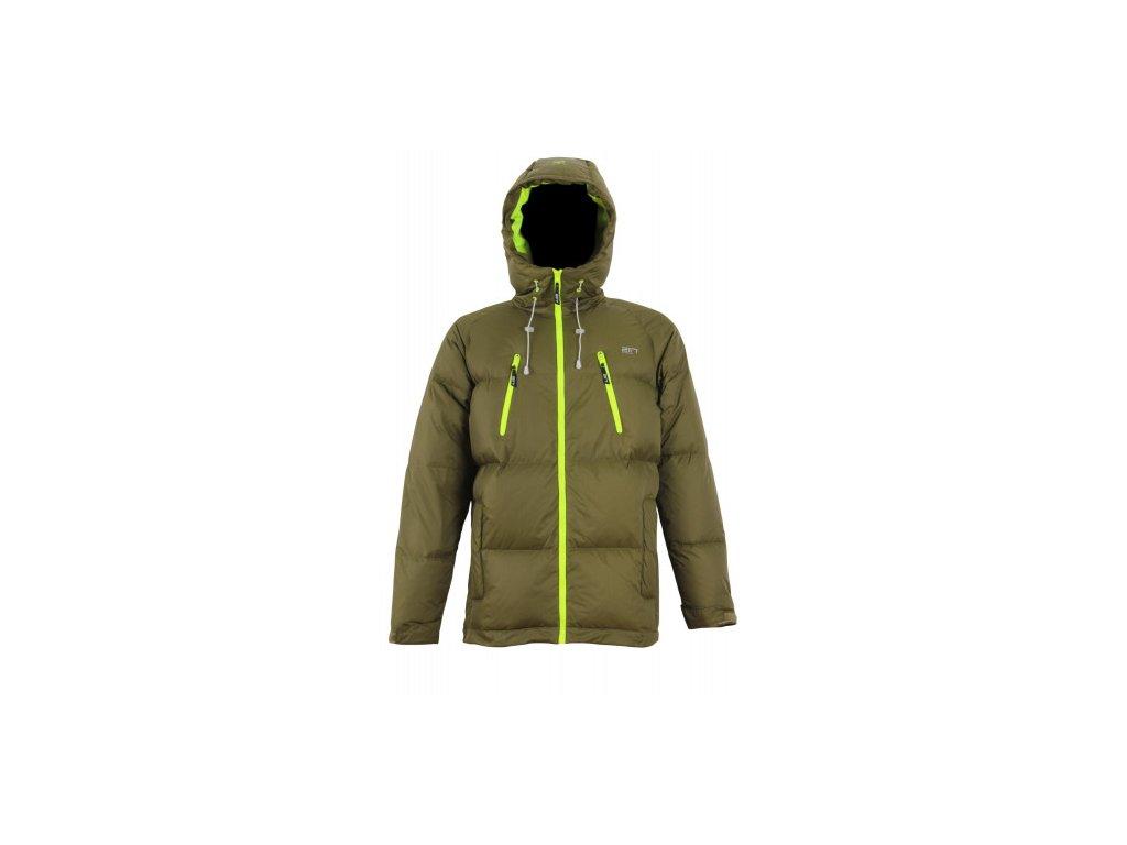 VINKÖL - pánská péřová bunda - vojenská zelená