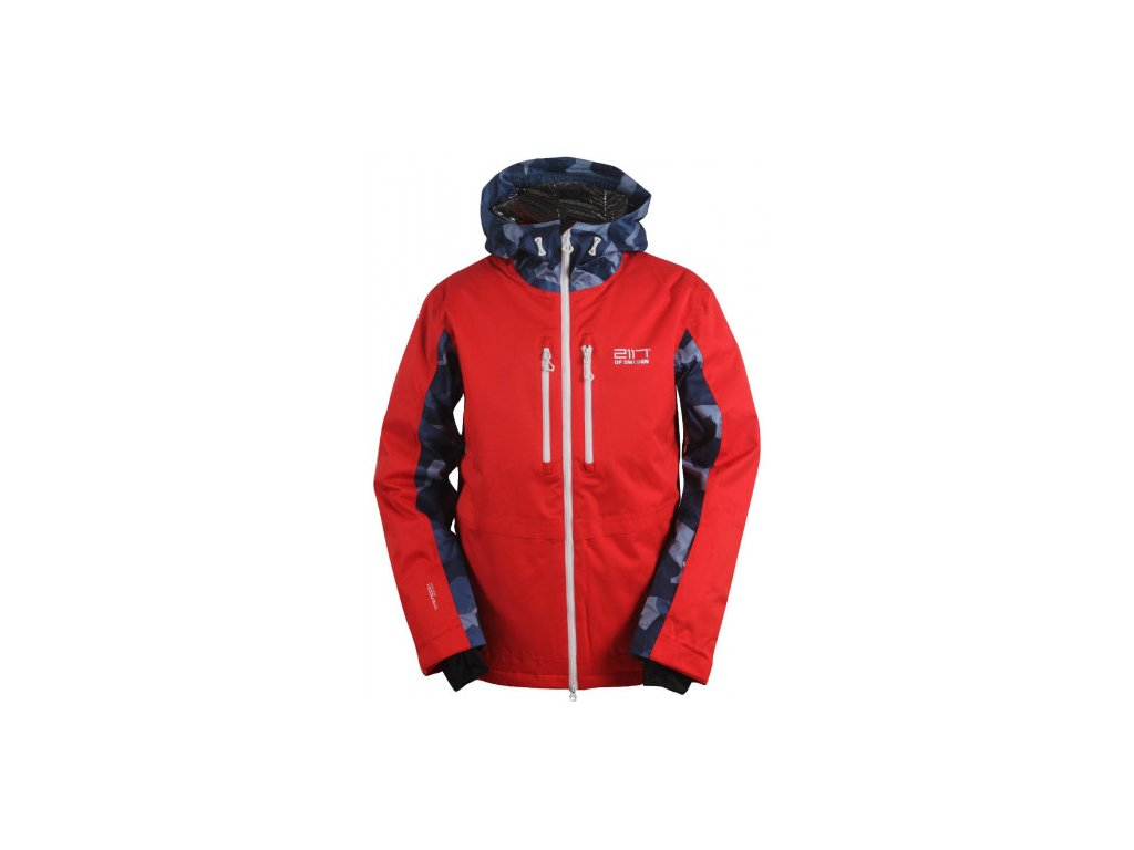 OPE -ECO pánská lyžařská bunda - červená