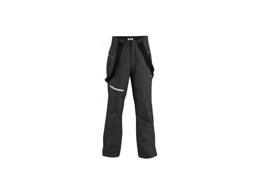 BORKAN - pánské lyžařské kalhoty - černé tkané
