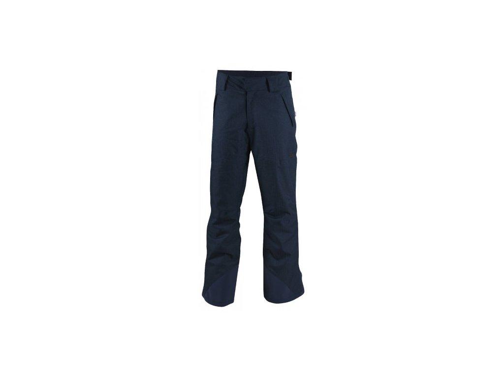 AKKAN - pánské lyžařské kalhoty - modrá tkaná