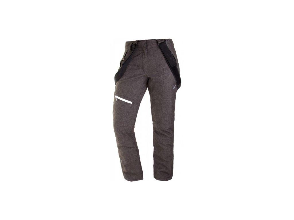 BORKAN - dámské lyžařské kalhoty - černé tkané