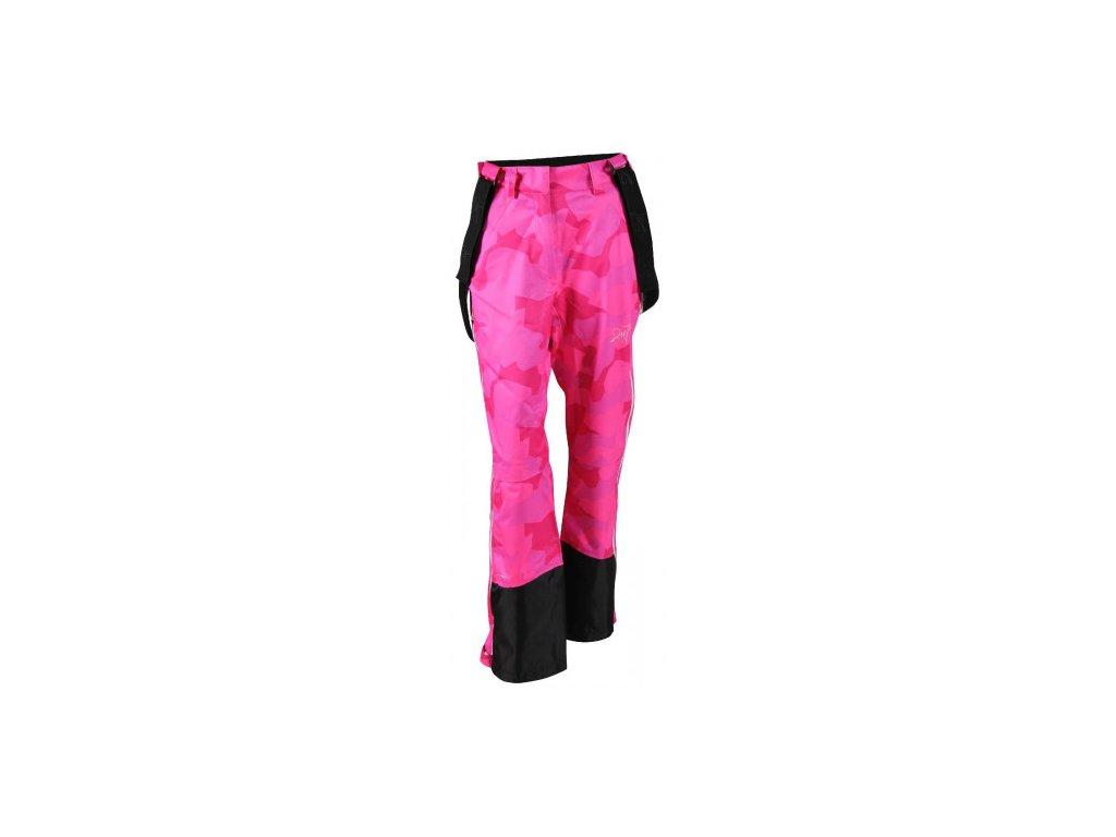 LIT -ECO 3L dámské lyžařské kalhoty - růžové
