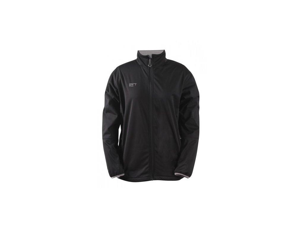 SKRATTEN - pánská NOS softshellová bunda bez kapuce - černá