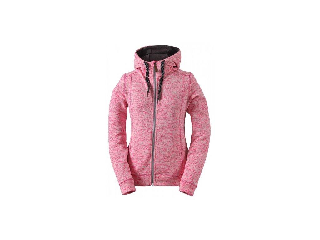 FAGERHULT- dámský svetr s kapucí (wavefleece,DWR) - růžová