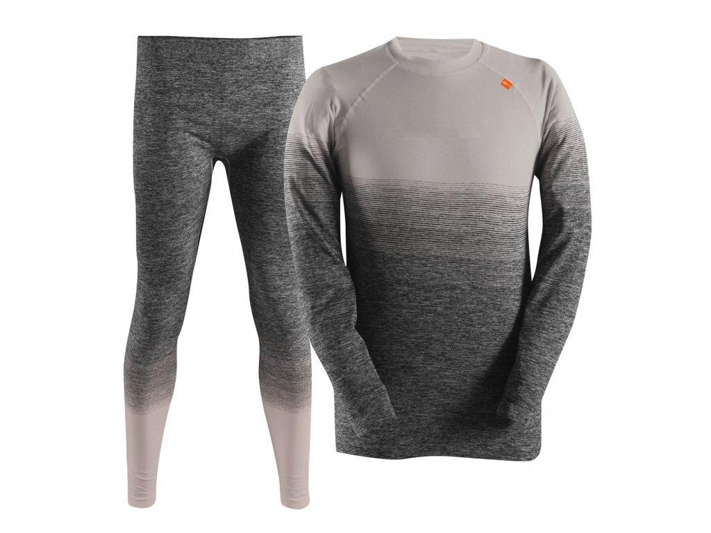 FLENMO-pán.bezešvé spodní prádlo - šedé