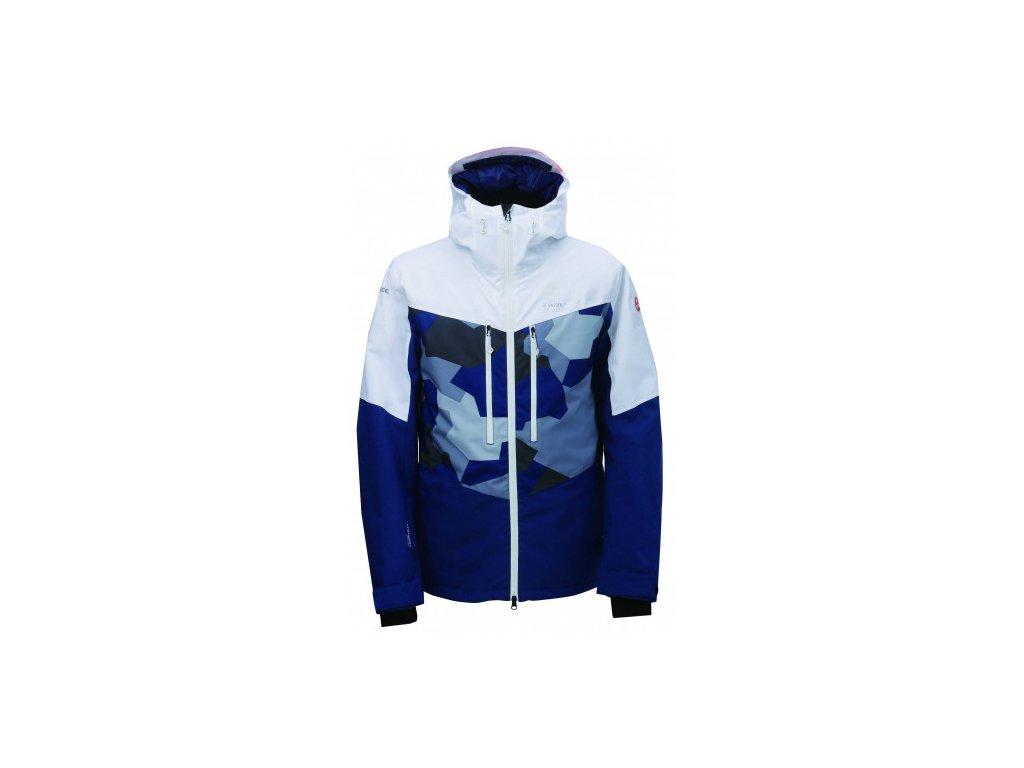 LUDVIKA - ECO pánská lyž.bunda (20000 mm, Recco) - modrá
