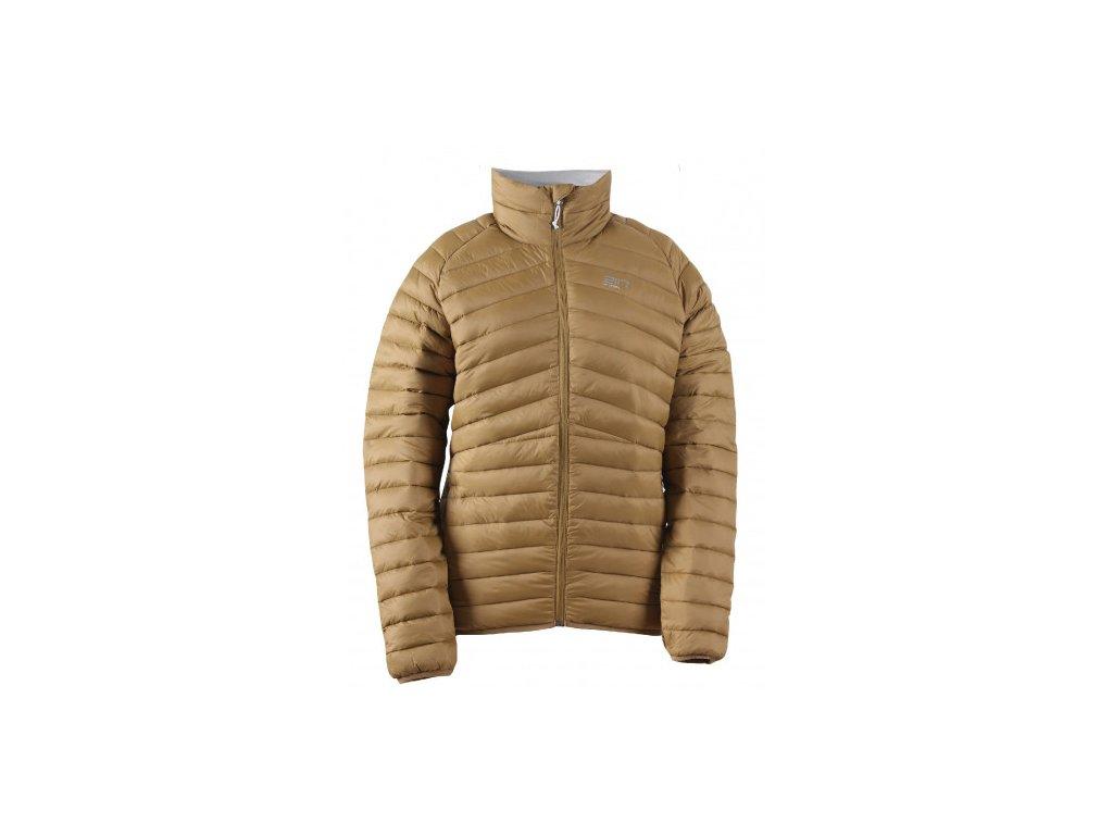 STÖLLET - lehká pánská péřová bunda - zlatá