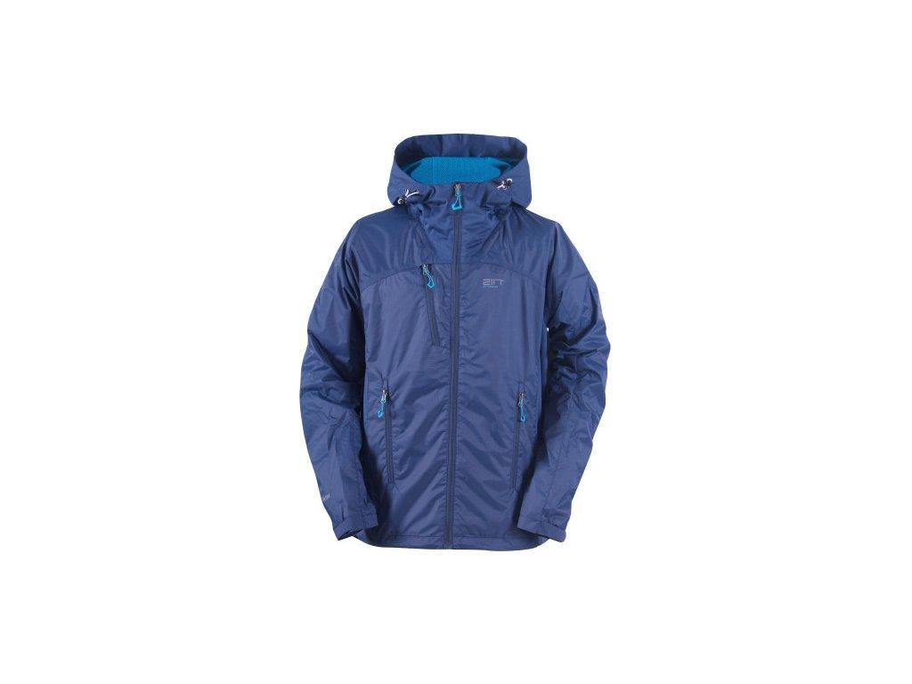 LIDKÖPING - pánská hybridní outdoorová bunda s kapucí - stone blue