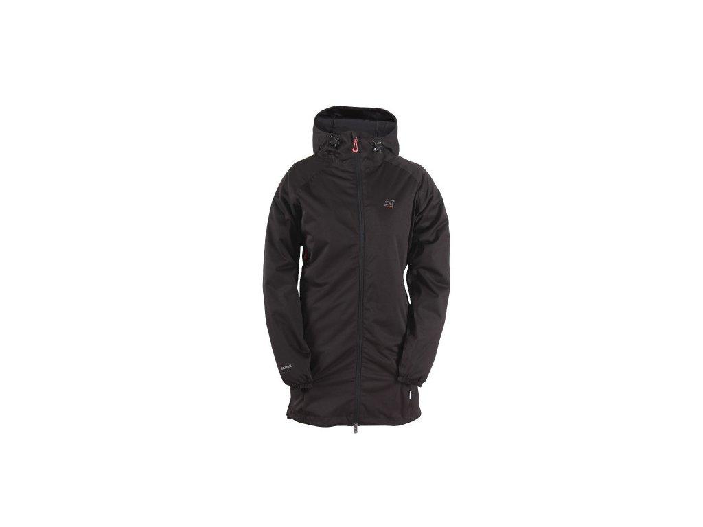 GUDHEM - dámský kabát do deště - černý tkaný