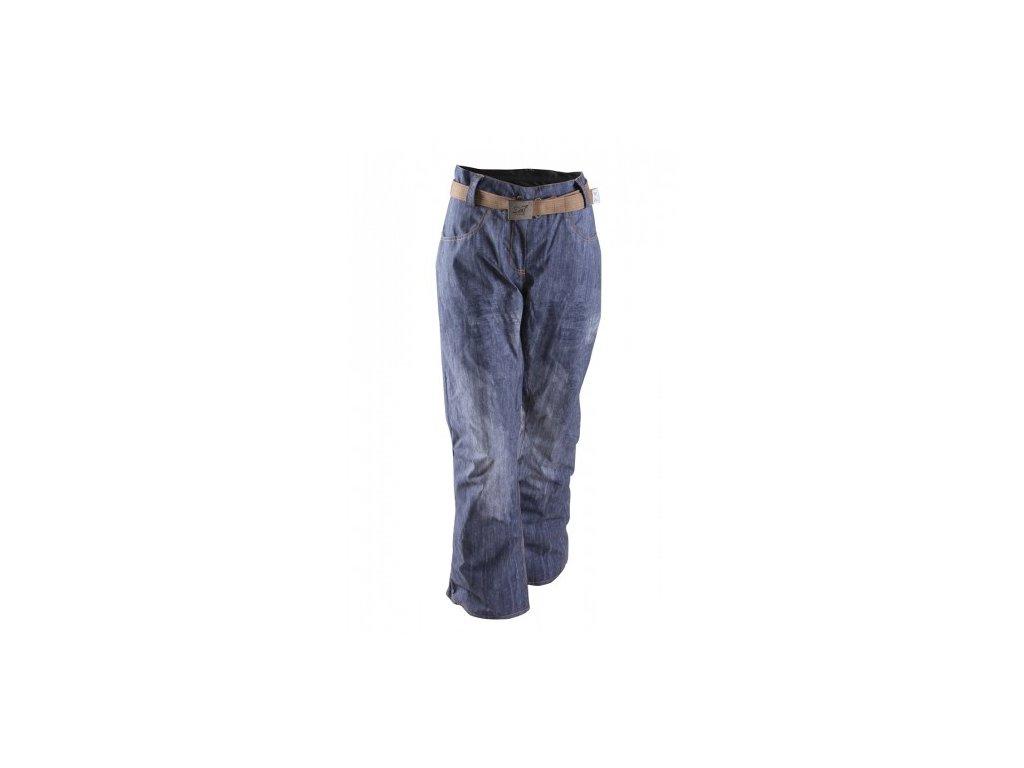 SIRGES - dámské lehké zateplené lyžařské kalhoty - denim