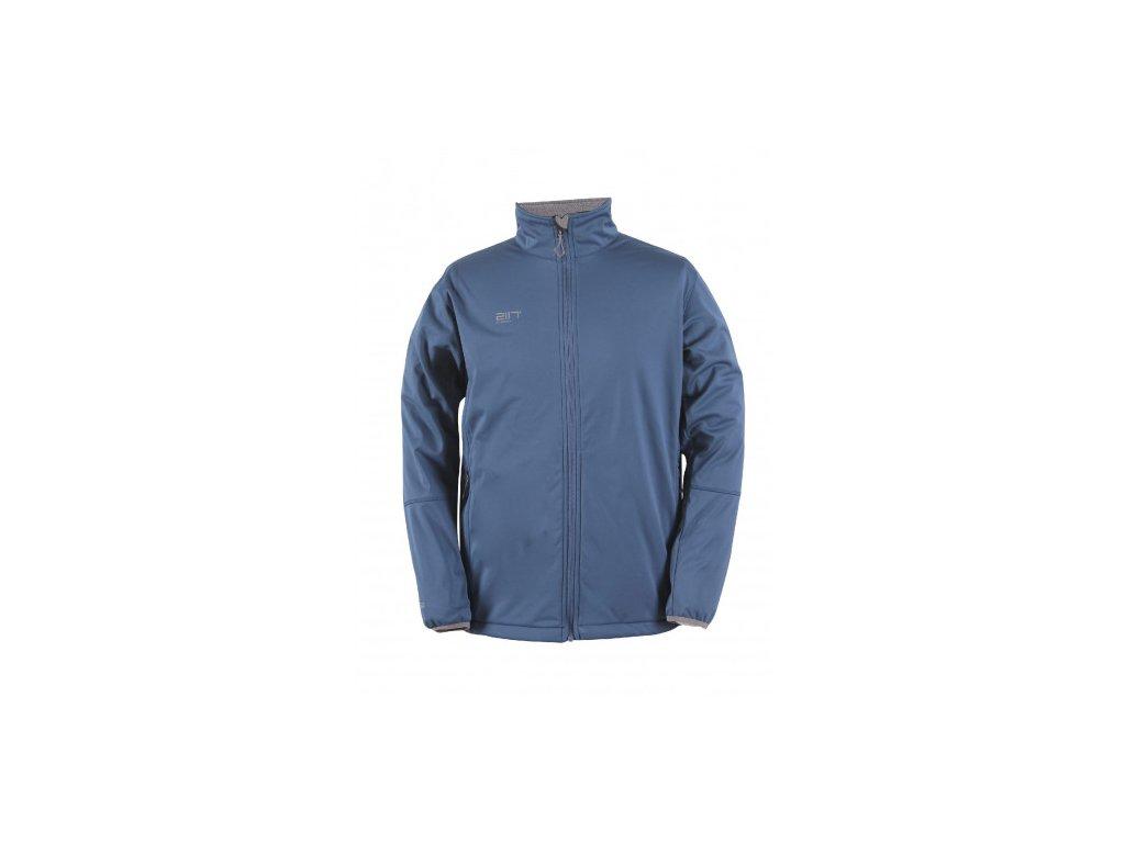 SKRATTEN - pánská NOS softshellová bunda bez kapuce - modrá