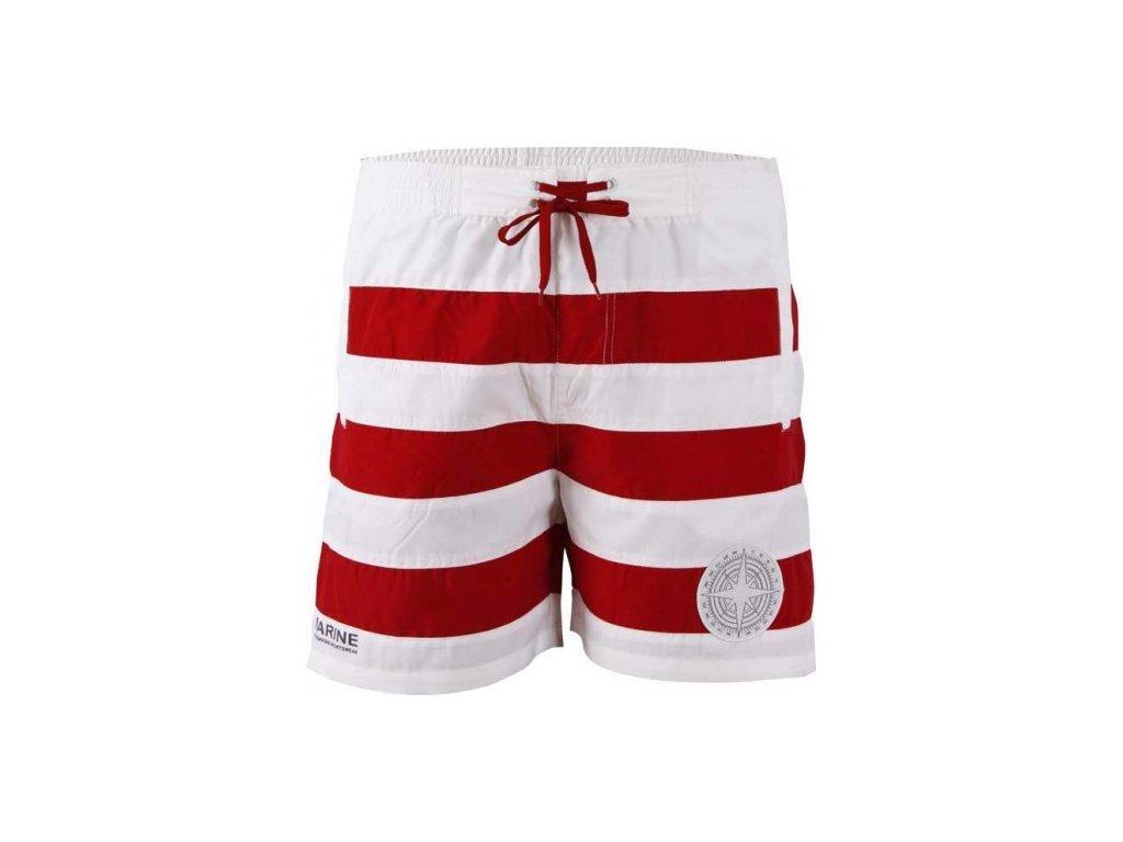 MARINE-pánské plážové šortky - červené