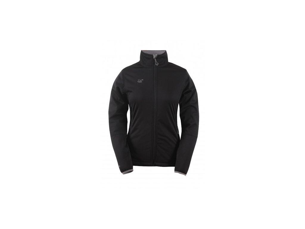 SKRATTEN - dámská NOS softshellová bunda bez kapuce - černá