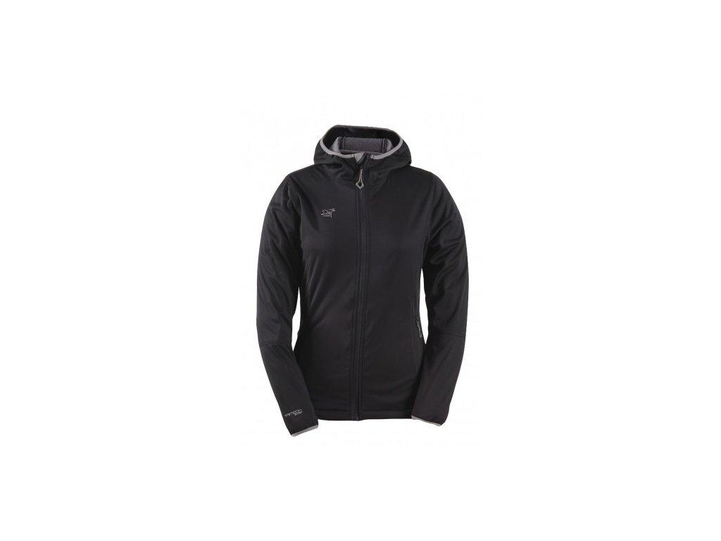 SKRATTEN - dámská NOS softshellová bunda s kapucí - černá