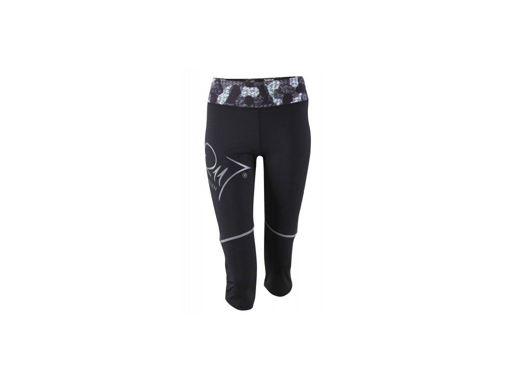 LINKÖPING - dámské 3/4 elastické kalhoty - černé
