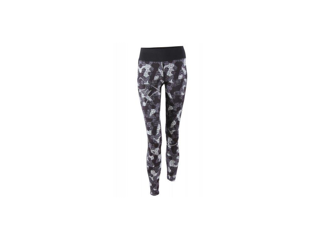 TINGSRYD - dámské elastické kalhoty, dlouhé (1/1) - černé / AOP