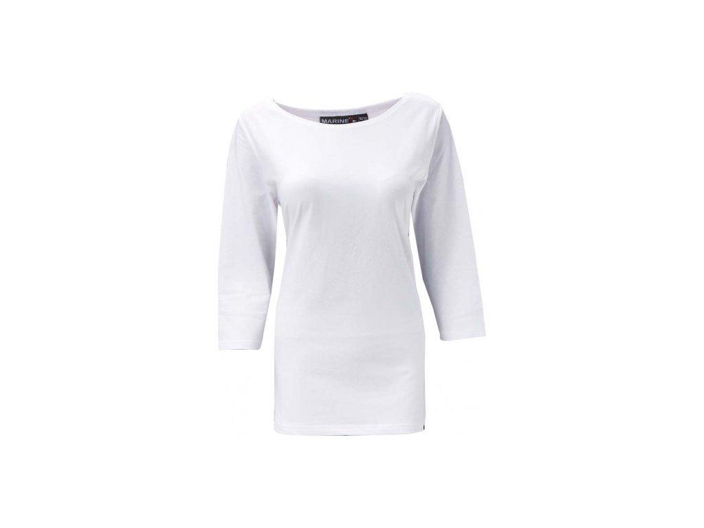 MARINE - dámské triko s 3/4 ruk. - bílé