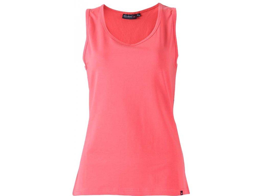 MARINE - SINGLET - dám.triko bez rukávů - červené