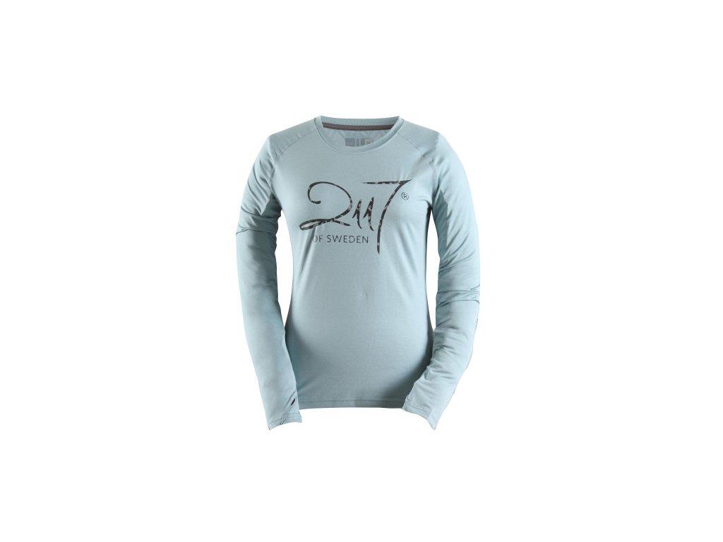BLASUT - dámské funkční triko s dlouhým rukávem - modré melange