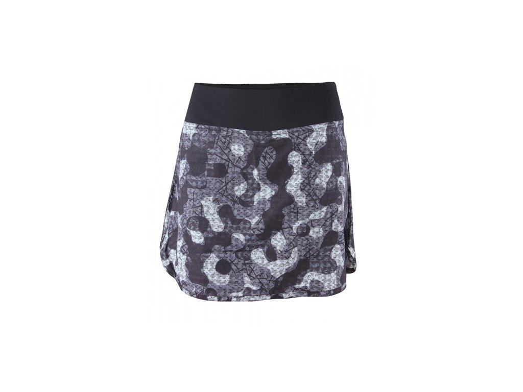 Orslösa - dámská sukně s kraťasy - černé / AOP