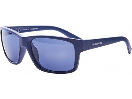 sluneční brýle BLIZZARD sun glasses PCC602200, dark blue matt, 67-17-135