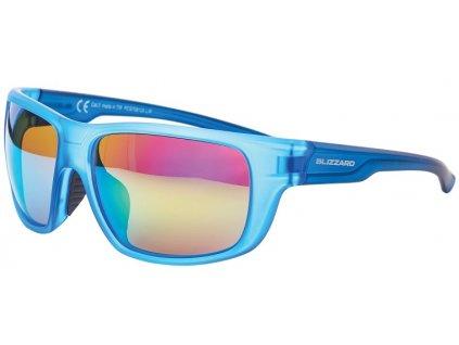 sluneční brýle BLIZZARD sun glasses PCS708120, rubber trans. light blue , 75-18-140