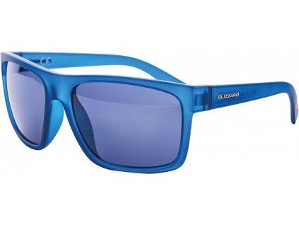 sluneční brýle BLIZZARD sun glasses PCSC603091, rubber trans. dark blue , 68-17-133