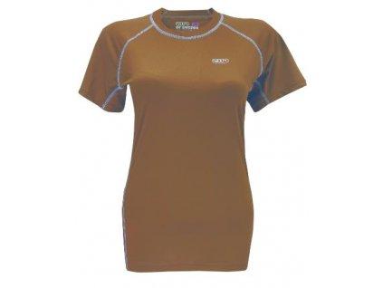 AKKA - dámské funkční triko s kr.ruk. - hnědá