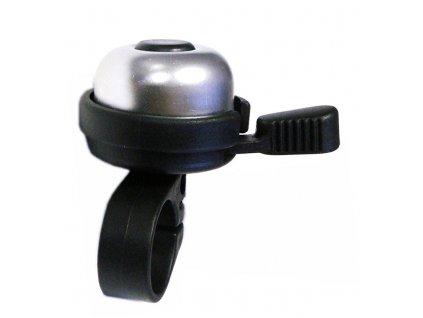 zvonek mini AL s páčkou stříbrný