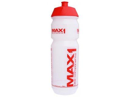 lahev MAX1 Tank 0,85 l transparentní červená