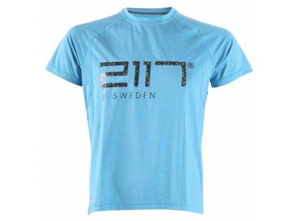 VARGÖN - pánské funkční triko s krátkým rukávem - modré melange