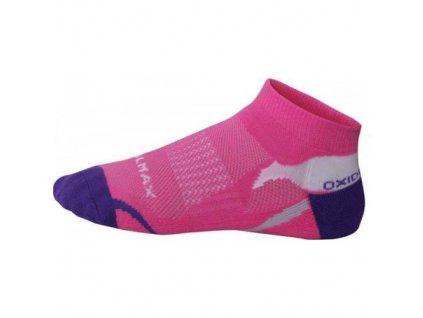 OXIDE - běž.ponožky nízké - růžové