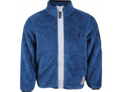 TN chlapecká mikina (fleece) - modrá mel.