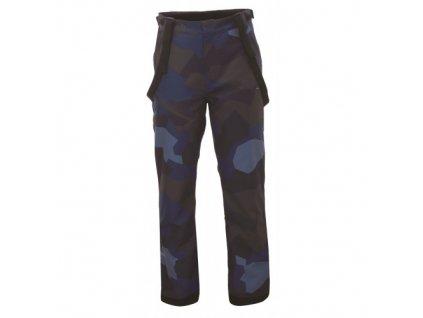 LINGBO - ECO pánské zateplené kalhoty s merinem - modrý maskáč