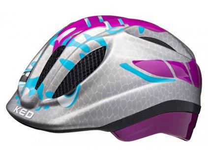 přilba KED Meggy Trend S Dino Violett Silver 46-51 cm