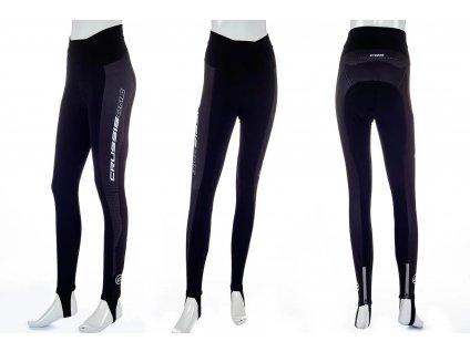 Crussis Dámské cyklistické kalhoty CRUSSIS - ONE, černá/bílá