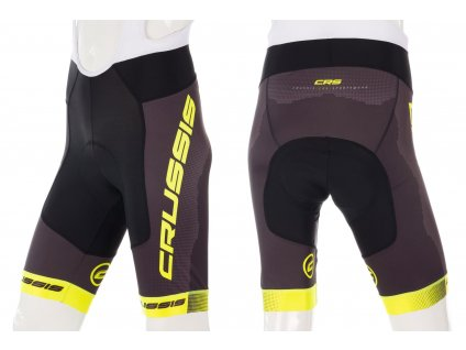 Crussis Cyklistické kraťasy se šlemi CRUSSIS, černá/žlutá