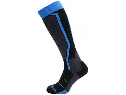 lyžařské ponožky BLIZZARD Allround ski socks junior, black/anthracite/blue