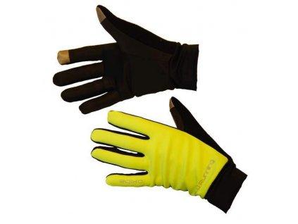 OXIDE - běžecké rukavice - žluté