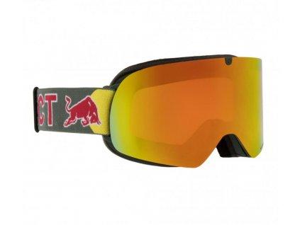 lyžařské brýle RED BULL SPECT Goggles, TRANXFORMER-008, matt white frame/blue headband, lens: grey with blue mirror CAT3