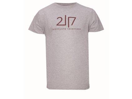 VIDA - pánské bavlněné triko s kr. rukávem - šedé melange