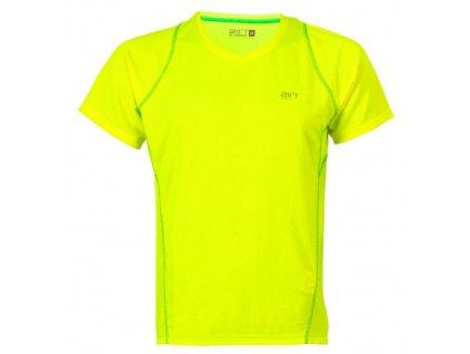 TUN - pánské běžecké triko svítivě žlutá