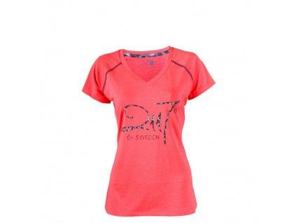 VARGÖN -dámské eco outdoorové triko svítivě červený melír