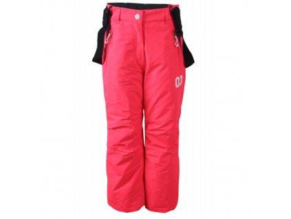 ALMASA - jr.zateplené lyžařské kalhoty - růžové