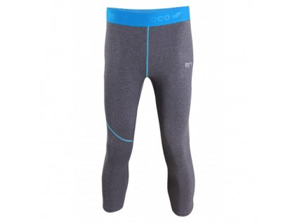 GRAN - pánské eco 3/4 kalhoty (2 vrstva ) - šedé melange