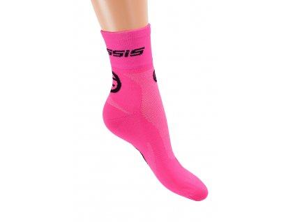 Crussis Ponožky CRUSSIS růžové neon