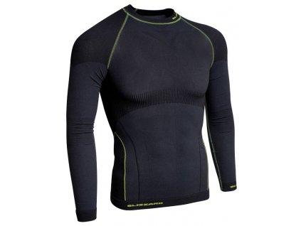 funkční triko BLIZZARD Mens long sleeve, anthracite/neon yellow