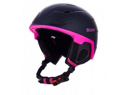 helma BLIZZARD Viva Double ski helmet, black matt/magenta