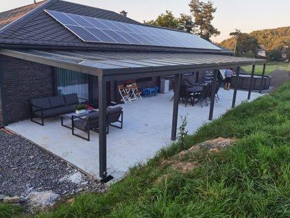 Pergola s presklením strechy izolačným dvojsklom čírym