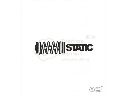 nálepka static